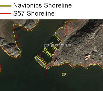 Genom att använda Google Earth får Navionics enkelt tillgång till \