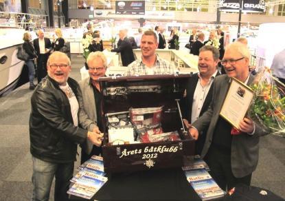 Ett gäng glada herrar från Hälleviks Bk. Från vänster: Kenny Karlsson, Ulf Persson, Martin Wiklund, Lars Persson och ordförande Yngve Rehnström.
