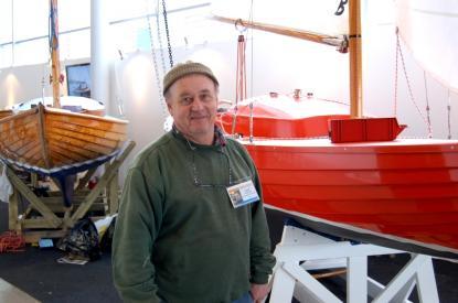 Tillverkningstakten är inte så hög på Stjärnbåten i plast. Båten på bilden byggdes 1994 och nu är båt nummer två i produktion.