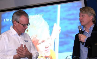 Mässgeneralen Bengt Wallin och Sweboats VD Mats Eriksson är förväntansfulla inför årets båtsäsong.