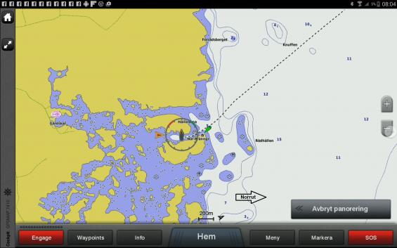 Vårt spår leder mot fyren Eggegrund. På morgonen startade vår resai Borka innanför Agön. Hamnen gjorde resan över Gävlebukten mera intressant än att gå direkt till Öregrund.