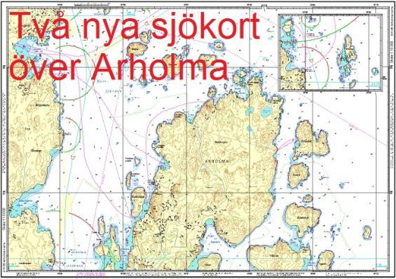 Arholma nord och Arholma syd är två av många andra nyheter från Hydrographica.