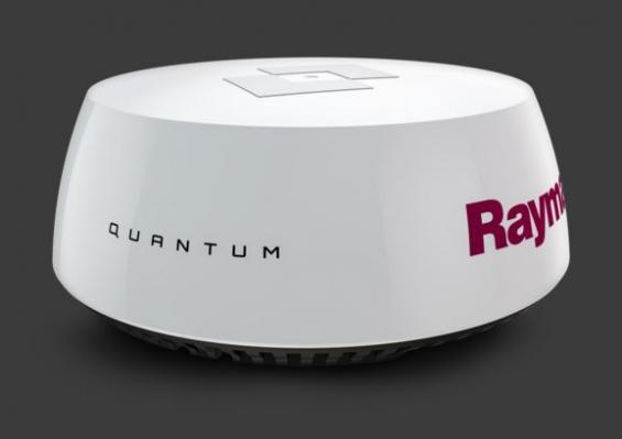 Raymarines nya Quantum CHIRP radar sänder trådlöst via WIFI till bildskärmen. Endast strömkabel behövs till radomen.