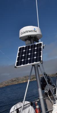 Back-Line solcell på 57 watt med måtten 54,5 x 54 cm.