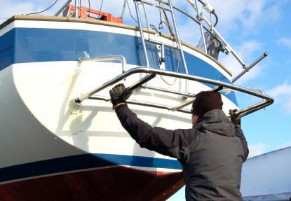 material till badbrygga båt