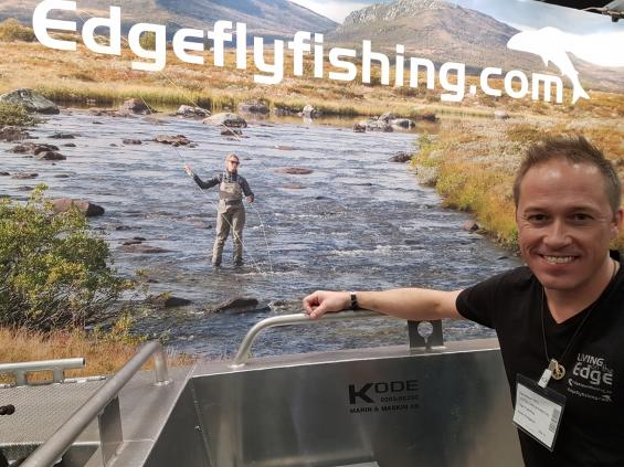 Jonas Nordigårds tillhör sportfiskeeliten i Sverige. Han ordnar fisketurer och driver diskussionsforumet Edgeflyfishing.