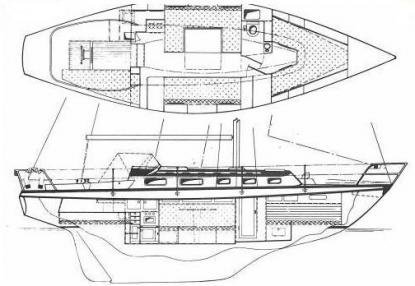 Vindö 40 tillverkades på 1970-talet. Det har hänt en hel del med formerna sedan dess jämfört med Arcona på bilden ovan.