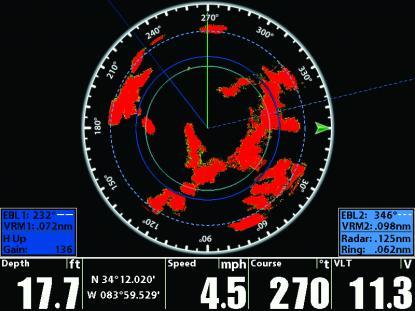 Humminbird har numera radar i sitt navigatorprogram.