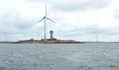 Stora Båtskär, Nyhamn, går inte att missa om man är på väg till eller från Rödhamn.