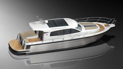 Nimbus satsar på klassiska linjerefter konkursen. Här är nya Nimbus 405 Coupé som sjösätts till sommaren 2013.