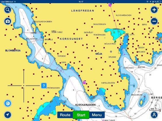 Navionics med sjömätning från Hydrographica. Hydrographicas sjömätning ingår i priset när man köper Navionics sjökort.