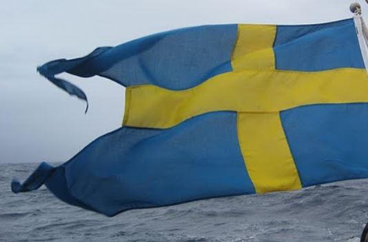 Svenska fartyg ska förasvensk flagg. Denna tvåtungade flagga är ingen svensk flagga.