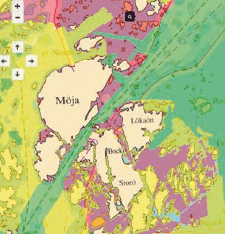 Gröna ytor har högsta kvalitet i sjömätning och uppfyller internationell standard S-44. Gula områden är sjömätta med ekolod, men uppfyller inte kraven i standard S-44. De rödaktiga områdena är sjömätta före 1940 och djupmätta med handlod.
