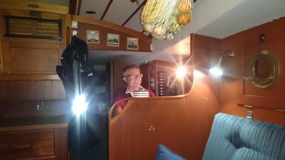 Chefredaktör Utterström på sin arbetsplats. Nu stängs redaktionen för i dag. God natt.
