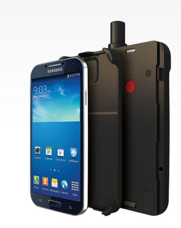 Lätt som en plätt att bygga om telefonen till en satellittelefon.