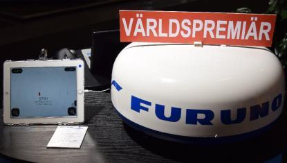 Furuno hade världspremiär med sin nya trådlösa WIFI-radar på Allt för sjön. Radarantennen sänder till en iPad eller iPhone.
