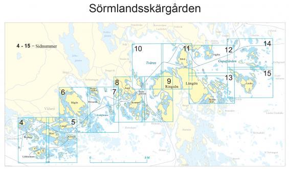 Hydrographica har gjort ett båtsportkort över sjöfyranSörmlandskusten. I mitten ser vi Västra stendörren. Finns att köpa på kommande båtmässa Allt för sjön.