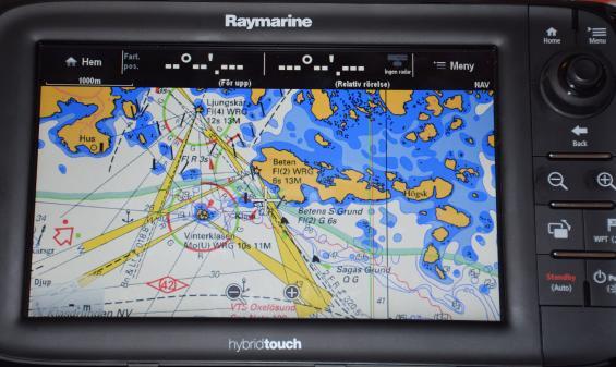 Sjökort som ser ut som papperssjökortet finns att köpa till navigatorer från våren 2015.