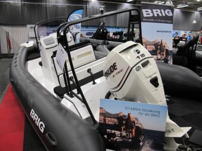 Navigator N610P är en ny modell med pilotsäten. L 6,10 B 2,30 Vikt 570 kg Max motor 150 hk Pris från 162 000:- utan motor. www.brig.se