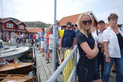 Intresset var så stort att man fick köa till båtarna.