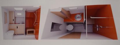 Inredningen görs också i Gävle. Den levereras färdig och passformen är perfekt.