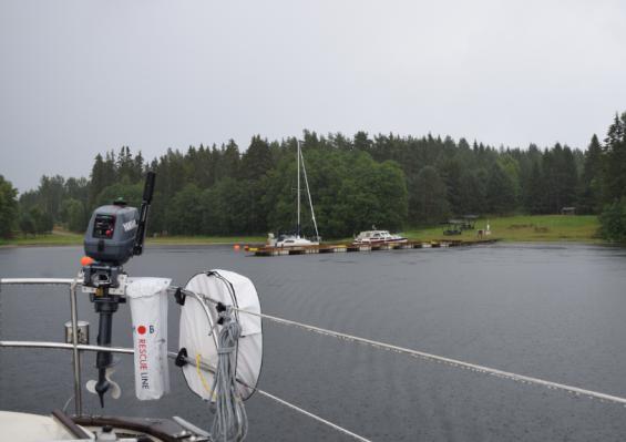 Längst in i Söråkersviken ligger en fin pontonbrygga.