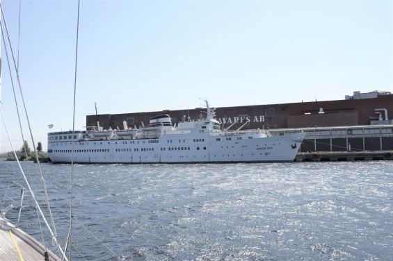 Birger Jarl, numera en fritidsbåt.