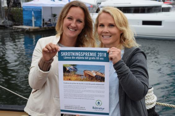 Josefin Ahrénborg och Maria Rindstrand startade en gång i tiden Båtskroten på Muskö. Nu driver de Båtretur tillsammans med Sweboat och Stena Recycling.
