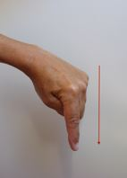 Släpp ner ankaret (en nedåtrörelse med handen med sträckt pekfinger).