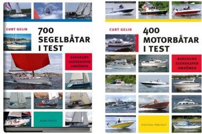 700 segelbåtar i test eller 400 motorbåtar i test, Norstedts förlag, är mumma för den som letar bland olika båtmodeller och dess utseende, måttuppgifter och omdömen från experter.