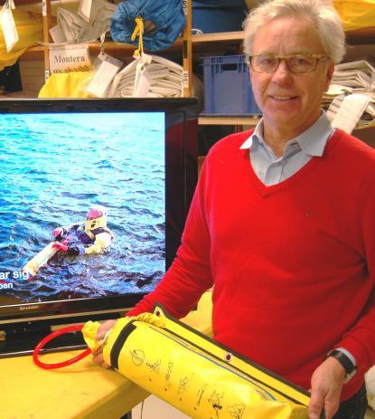 Odd Lindqvist kommer under januari nästa år att börja sälja nya räddningslinan under nytt namn via butiker och egen webbshop.