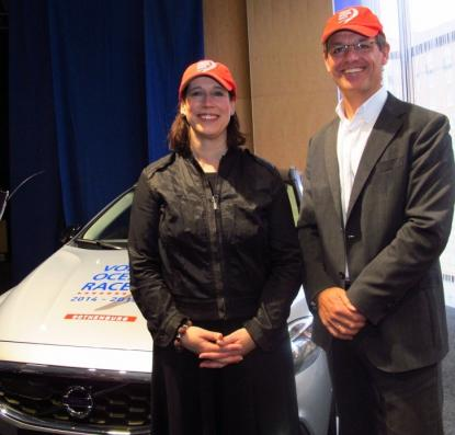 Camilla Nyman från Göteborg & Co här tillsammans med Volvo Ocean Races VD Knut Frostad.