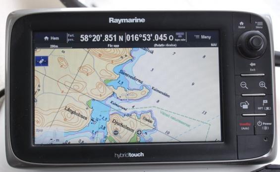 Sjökort kan nu visas i originalutseende i navigatorer. Här syns ett utsnitt från Hydrographicas sjökort.