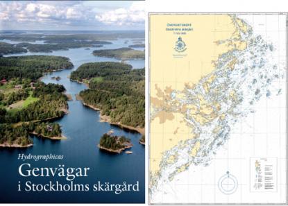 Till boken finns ett nyproducerat sjökort i skala 1: 100 000. Det är tryckt på ett starkt papper som tål väta. Sjökortet kan köpas separat.