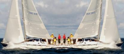 Att dela båt har många fördelar. En av dem är att vi kan segla åt ett håll under semestern och den andre delägaren seglar hem båten.