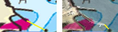 Många pirar har förlängts under åren. Om det inte rapporterats till Sjöfartsverket finns inte den förlängda piren med i sjökortet. I mörker och vid dålig sikt kan det bli en obehaglig överraskning.