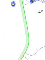 Innanför områden med grön linje ska ett sjökort i bättre skala användas.