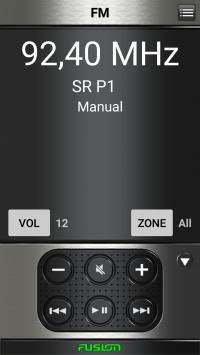 Skärmdump från mobilen. Så här ser det ut när P1 kommer ur högtalarna.